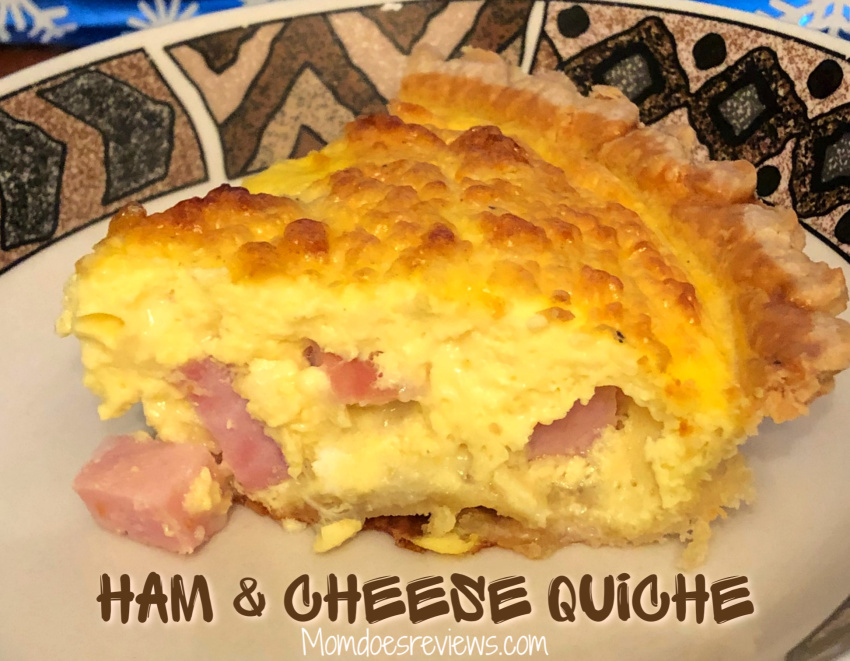 Ham and Cheese Quiche- Family Favorite #recipe