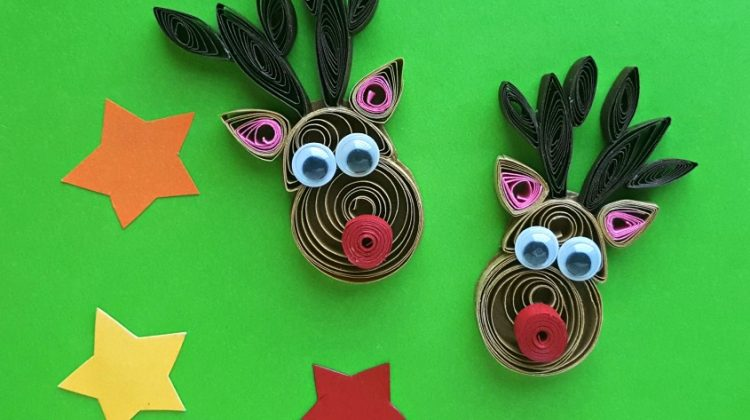 Quilled Reindeer #Craft