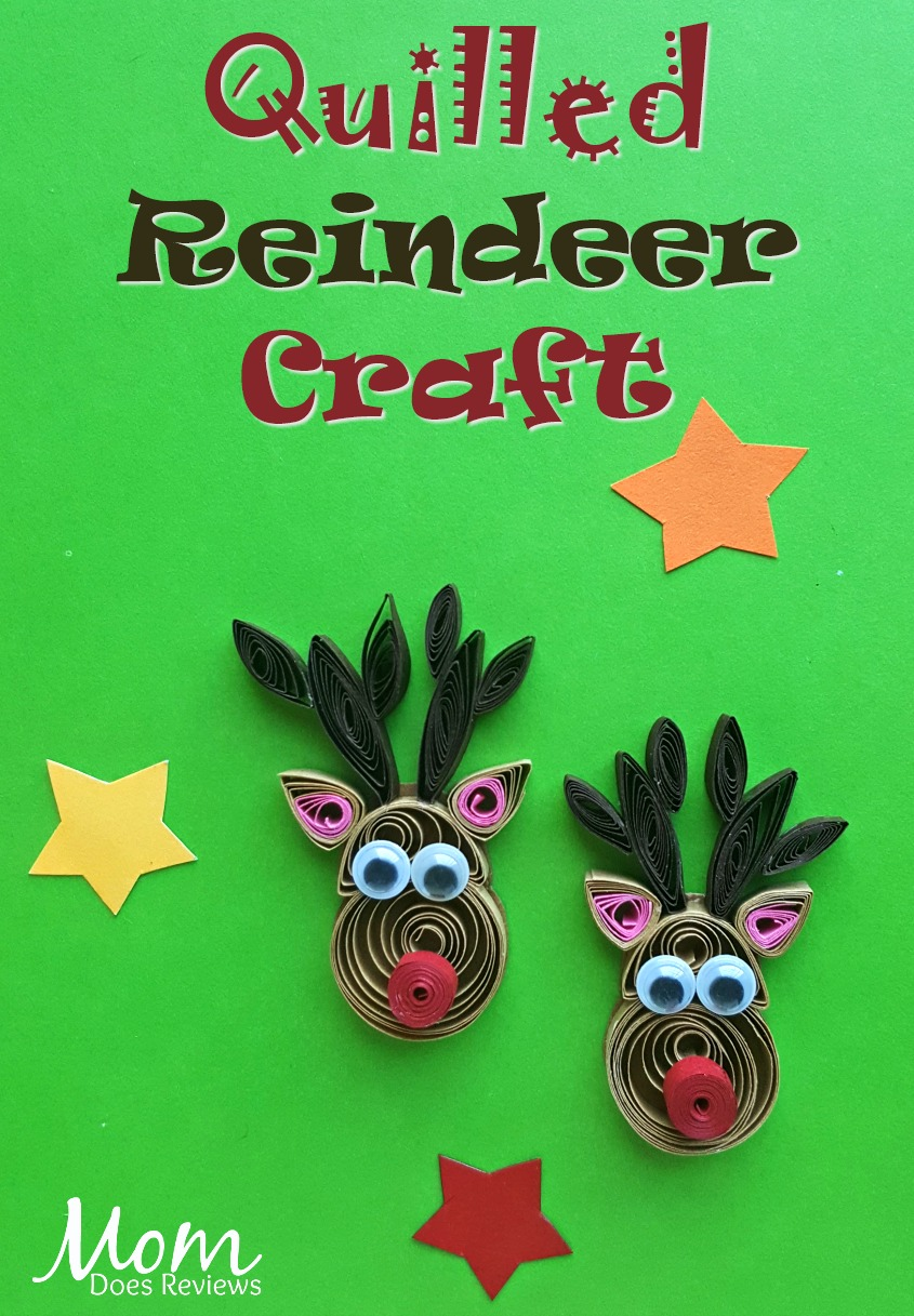 Quilled Reindeer #Craft #christmas #diy #quilling #papercraft