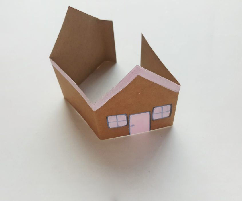 Cardstock Gingerbread House Craft