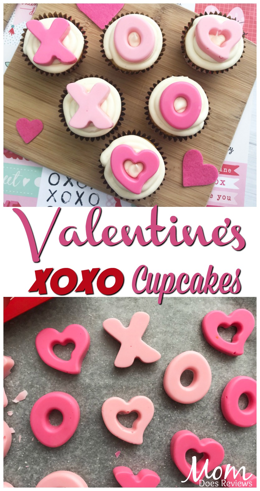 Valentine Hugs and Kisses Cupcakes #sweets #recipes #valentinesday #hugs #love