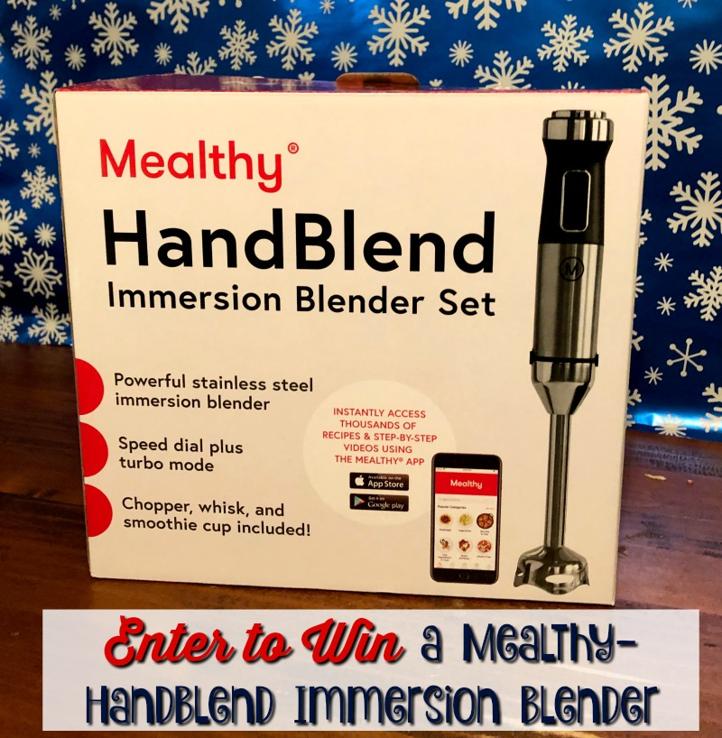 Win a Mealthy - HandBlend Immersion Blender #mealthymoms #megachristmas18