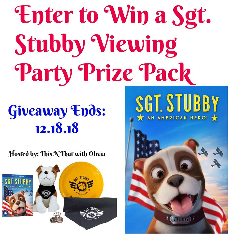 #Win a Sgt. Stubby Prize Pack US ends 12/18