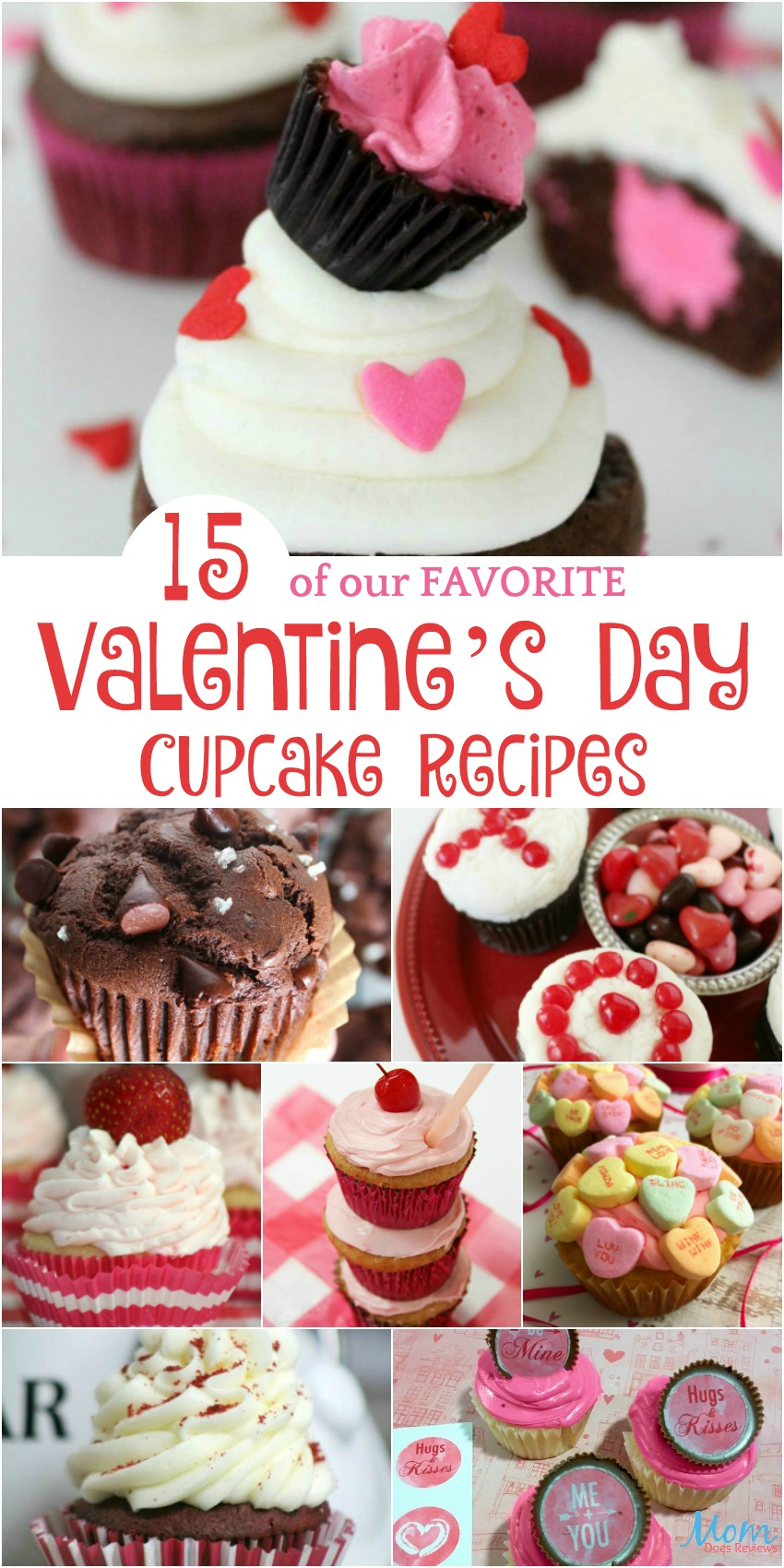 15 of our FAVORITE Valentine's Day Cupcake Recipes #Sweet2019 #sweets #cupcakes #desserts #valentinesday