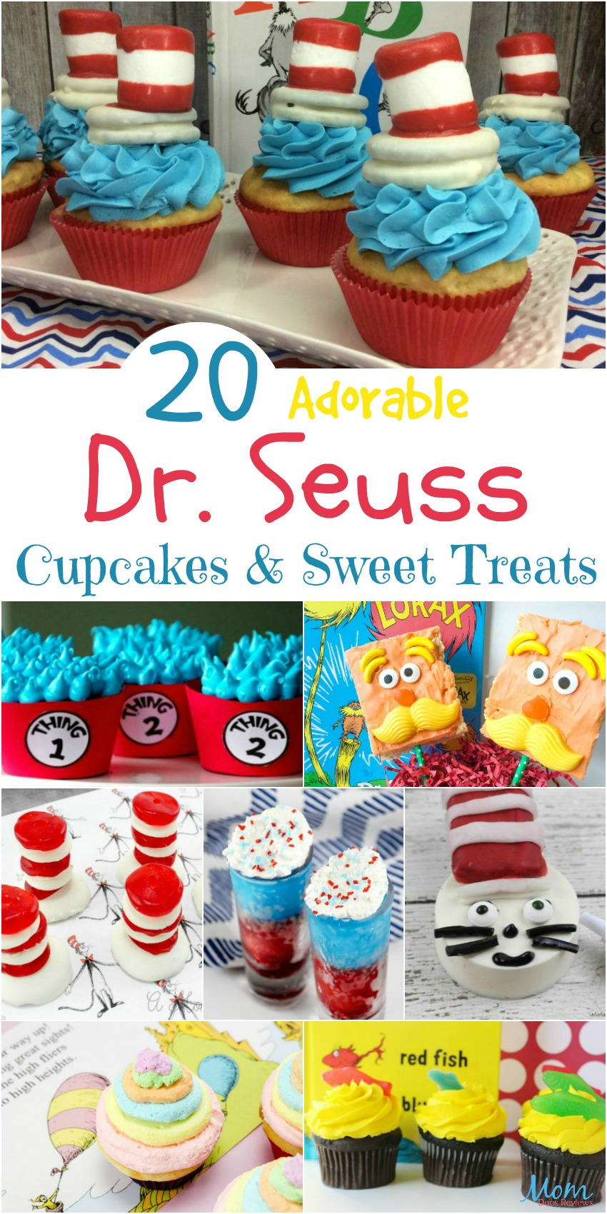 20 Adorable Dr. Seuss Cupcakes, Sweet Treats, and More #sweets #cupcakes #cookies #desserts #drseuss #treats #recipes