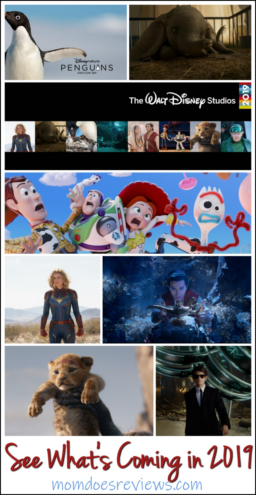 2019 Walt Disney Studios Motion Pictures Slate- See What's Coming! #Disney #Marvel #movies #2019movieslate