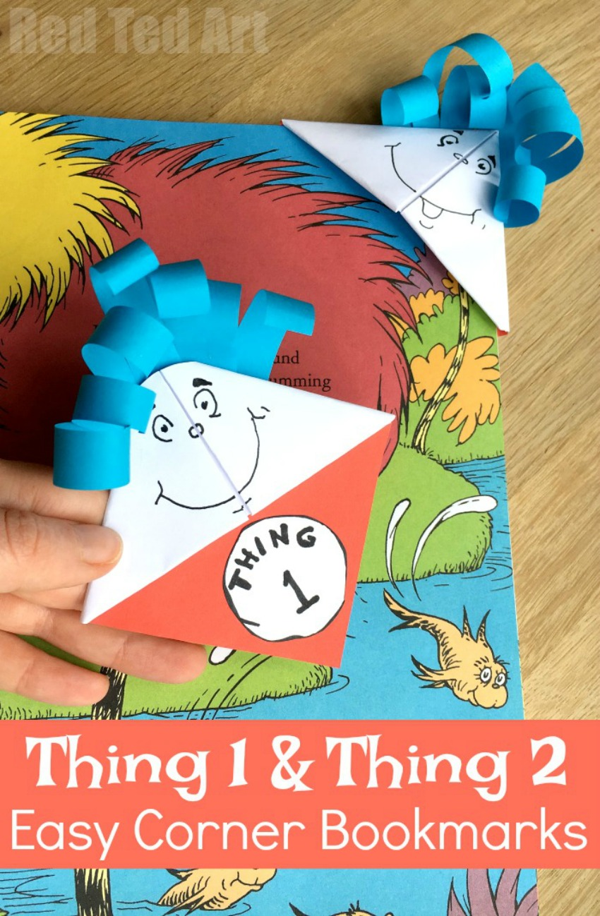 Dr. Seuss Bookmarks – Thing 1 & Thing 2