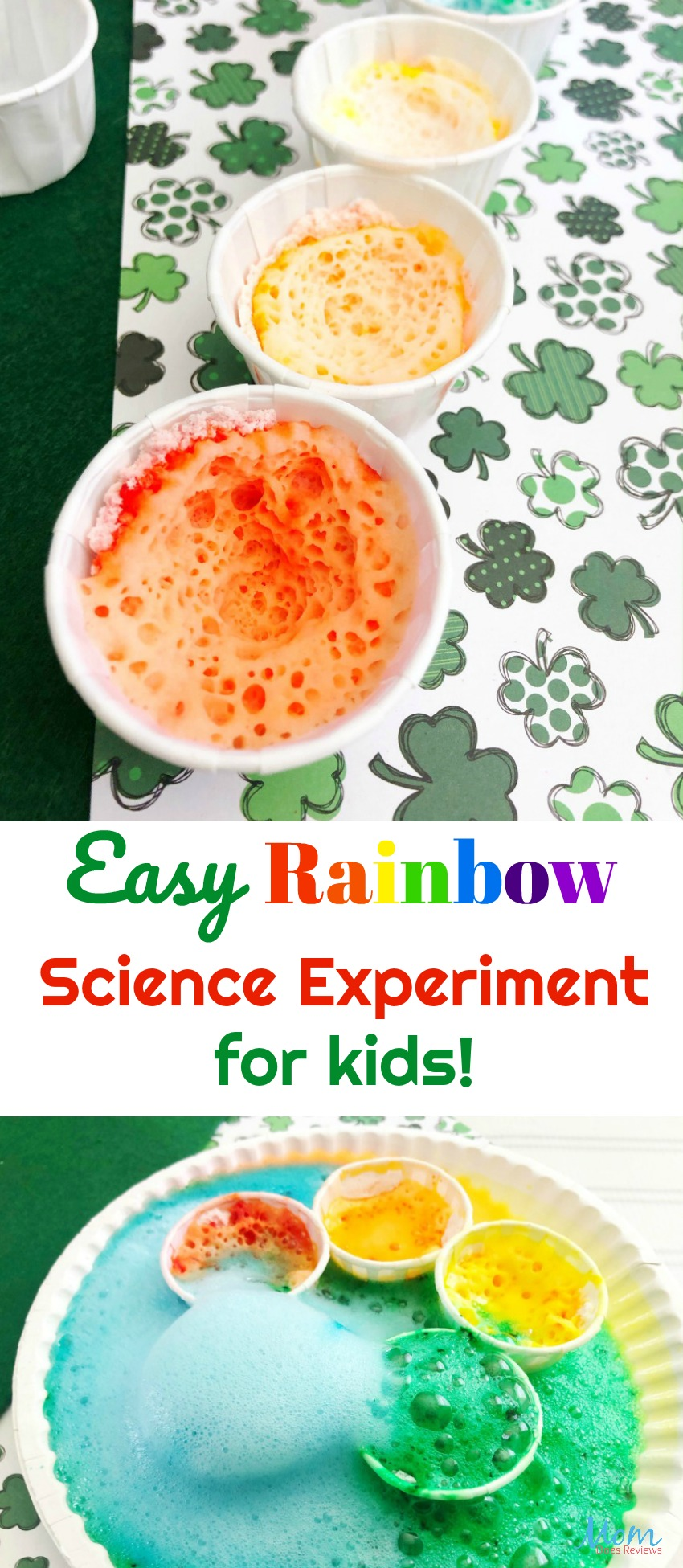 Easy Rainbow Science Experiment for the Kids #science #fun #learning #STEM #education #craft #diy