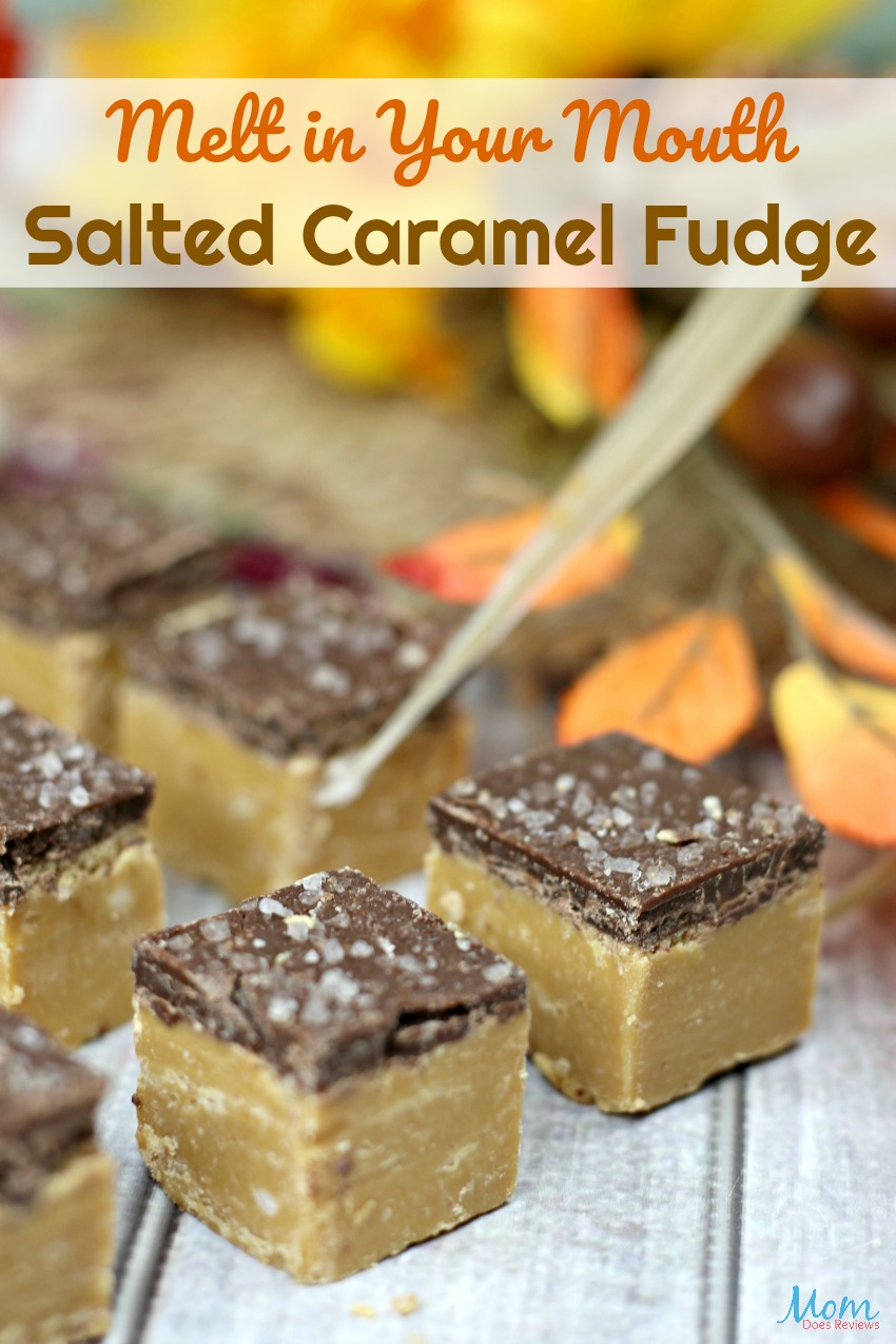 Melt in Your Mouth Salted Caramel Fudge #dessert #fudge #caramel #sweets #recipe #getinmybelly