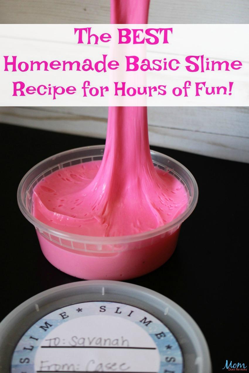 The Best Homemade Basic Slime Recipe for Hours of Fun! #slime #slimerecipe #fun #slimelabels