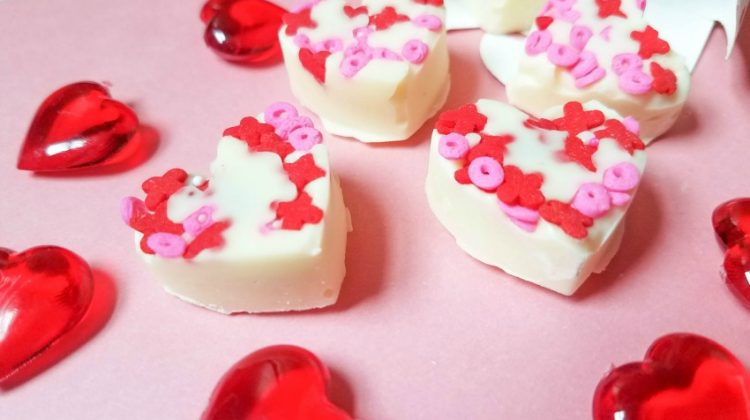 White Chocolate Almond Hearts Recipe