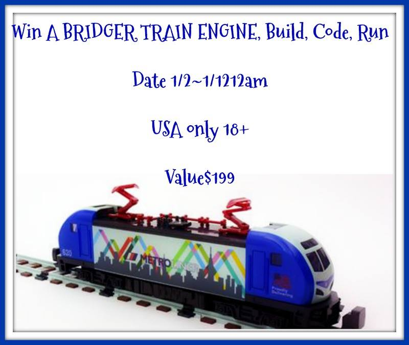 Win A Bridger Train Engine, Build, Code, Run!