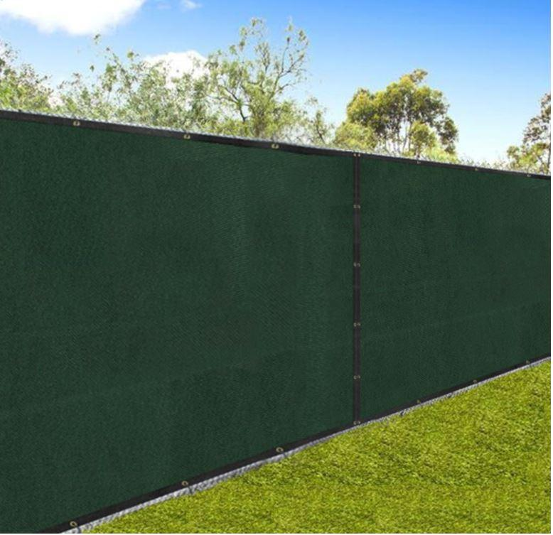 Aluminet shade cloth as fence privacy screen