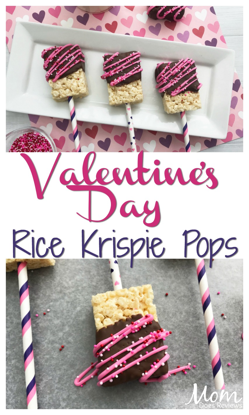 Valentine's Day Rice Krispie Pops #sweets #treats #Sweet2019 #dessert #chocolate #ricekrispie