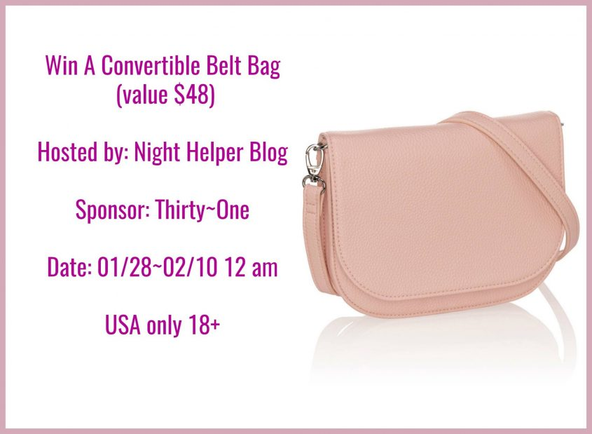#Win a Convertible Belt Bag from Thirty-One US ends 2/9