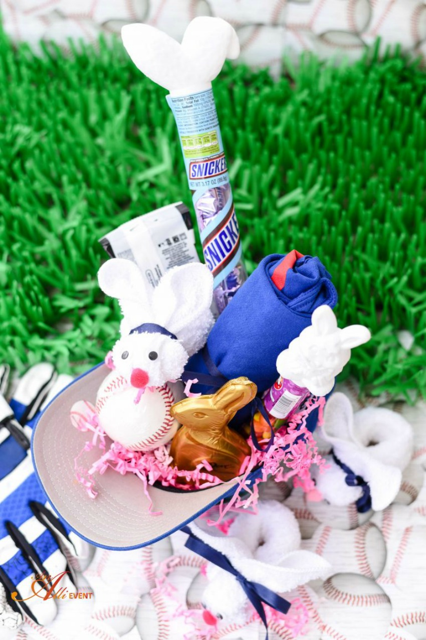 Baseball Themed Easter Basket