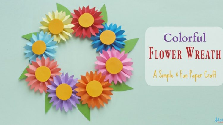 Colorful Flower Wreath, A Simple and Fun Paper Craft