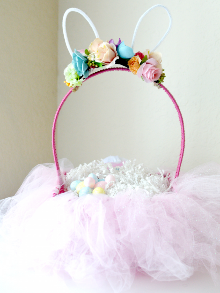 DIY Easter Bunny Tutu Basket