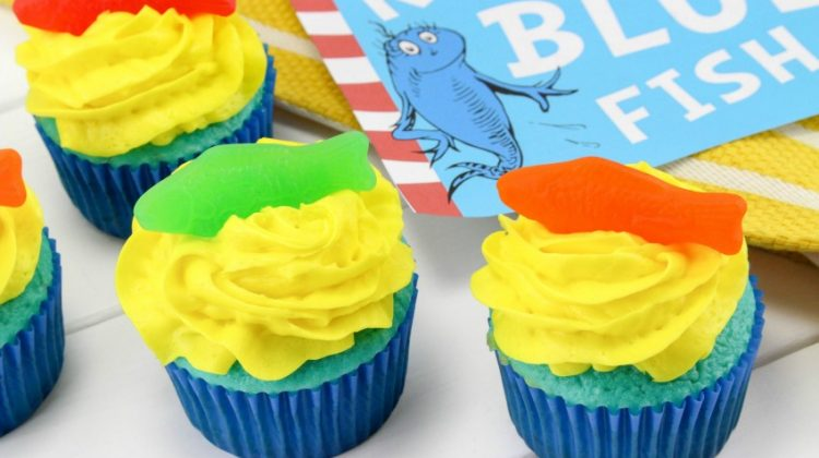Dr. Seuss Cupcakes One Fish Two Fish