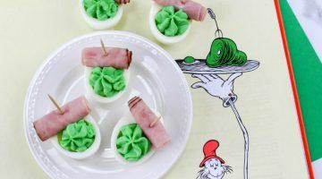 Dr. Seuss Green Eggs and Ham Deviled Eggs