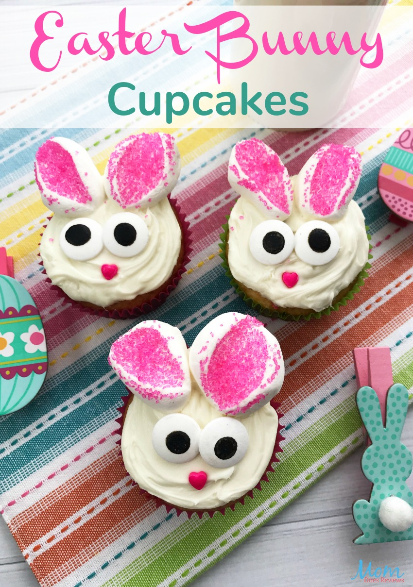 Easter Bunny Cupcakes #easter #cupcakes #desserts #food #foodie #funfood