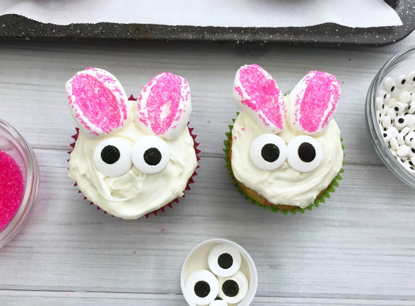 Easter Bunny Cupcakes process
