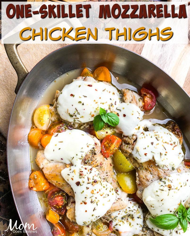 One-Skillet Mozzarella #Chicken Thighs- Easy #Keto #Recipe! #food #foodie #ketogenic #ketomacros #diet