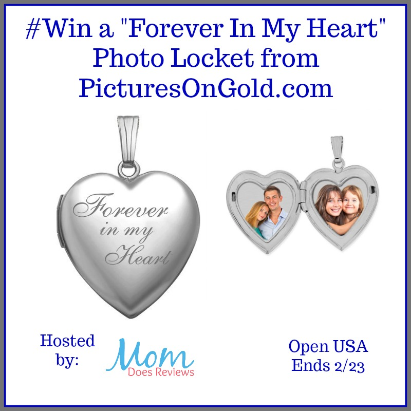 #Win a Forever In My Heart Photo Locket from PicturesOnGold.com