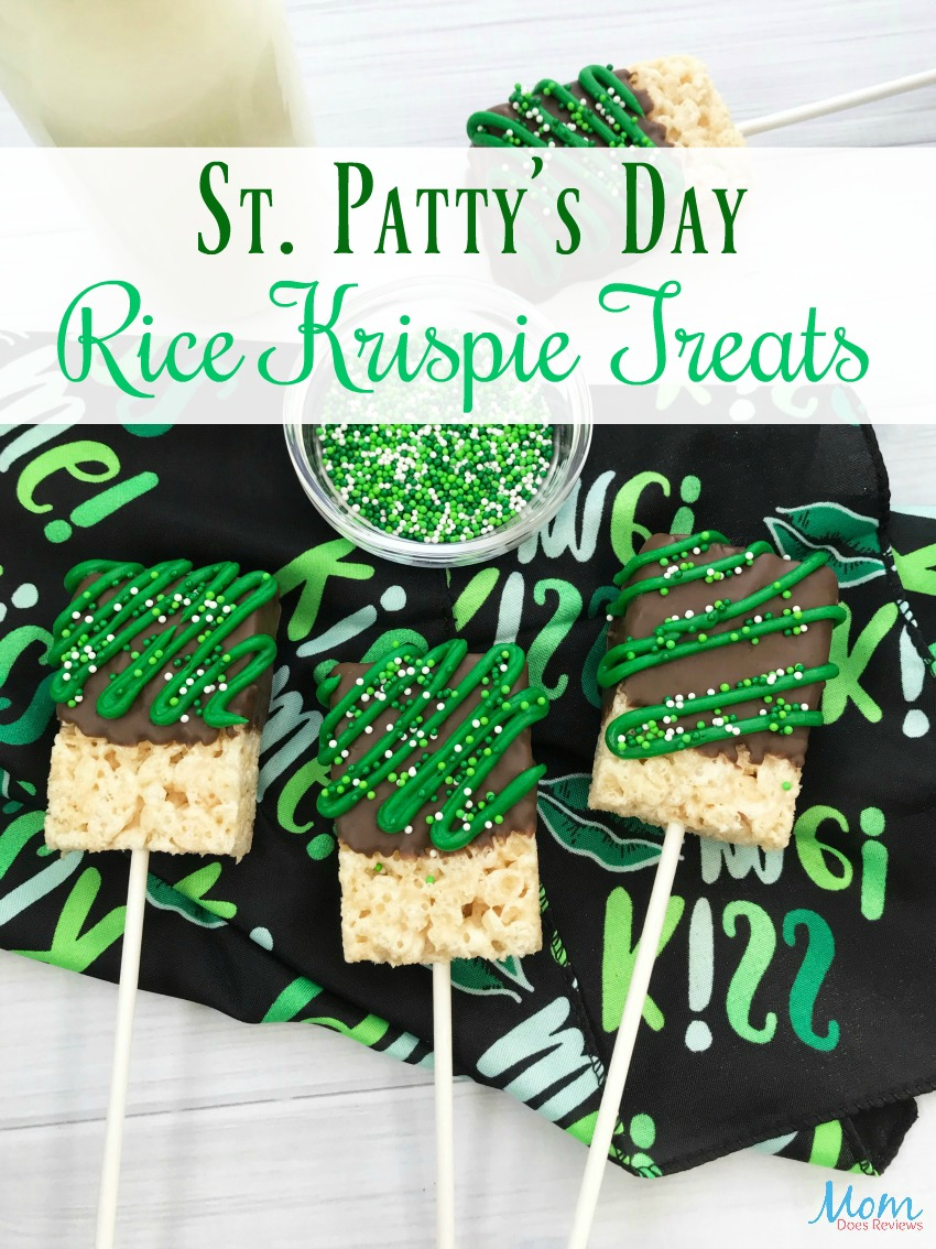 St. Patty's Day Rice Krispie Treats #Recipe #desserts #stpattysday #sweets #ricekrispietreats #funfood