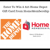 #Win $25 Home Depot GC, Ends 2/20, US only #HomeMembership