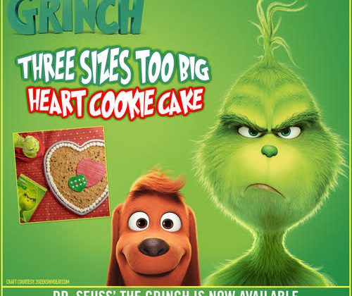 the Grinch Cookie Heart