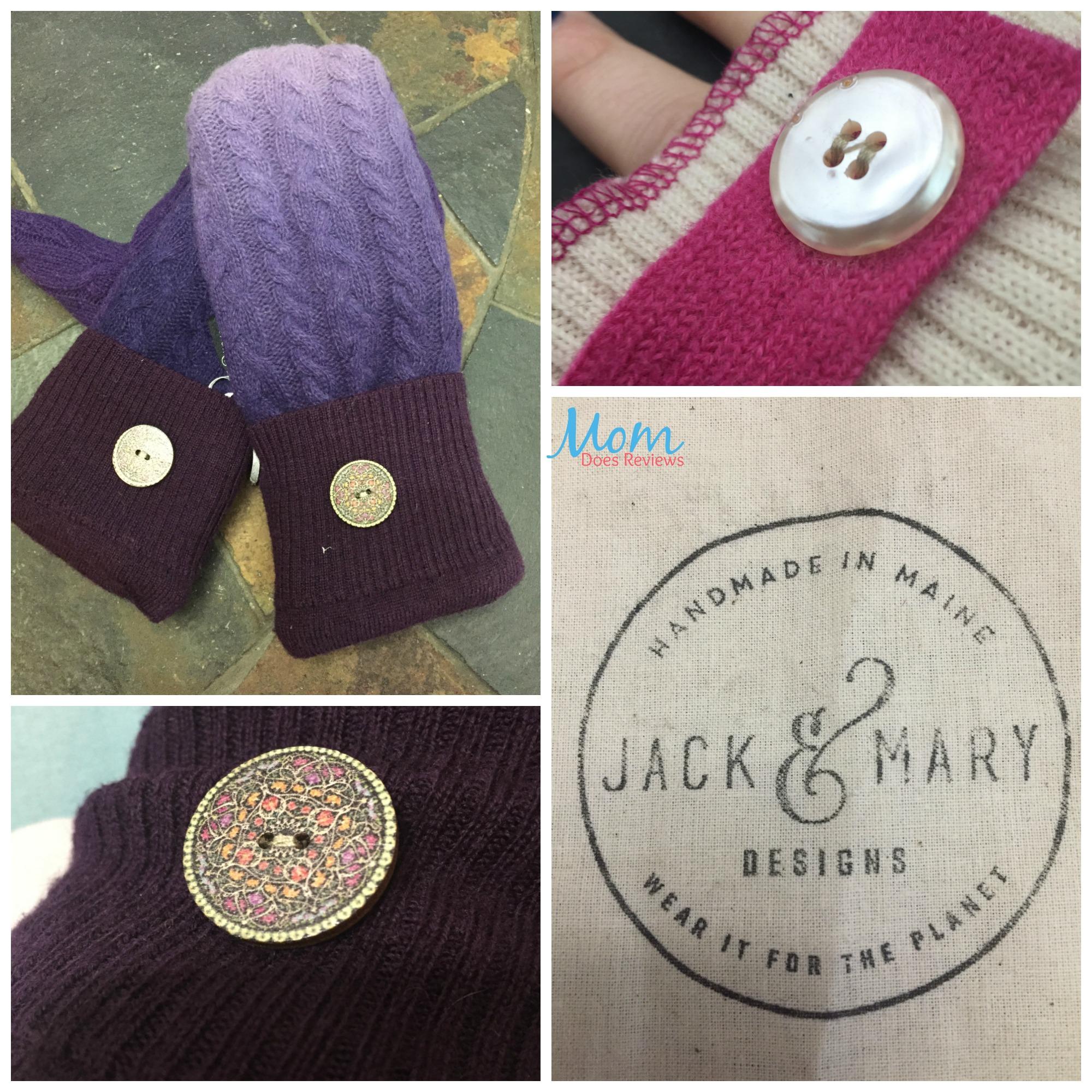 buttons, wool, mittens