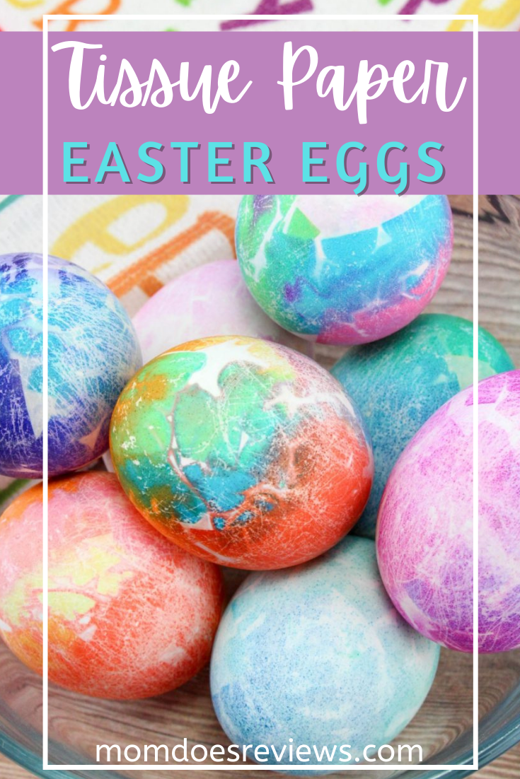 Tissue paper Dyed Easter Eggs