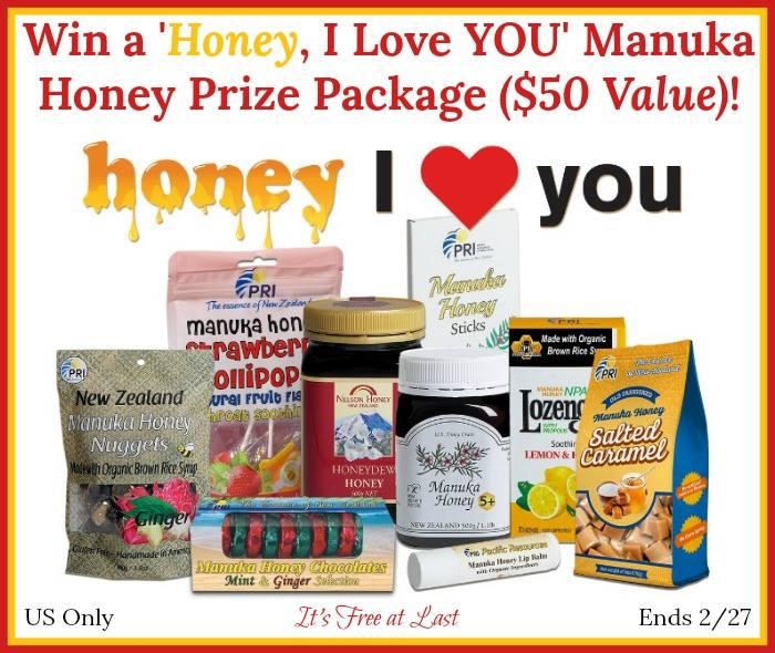 #Win 'Honey, I Love YOU' Manuka Honey Prize Pack- US, ends 2/27  #ManukaHealth #ShopPRI