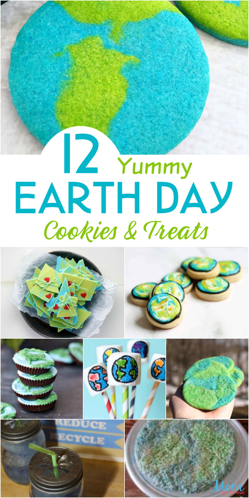12 Yummy Earth Day Cookies & Treats for a Fun Celebration #cookies #treats #earthday #gogreen #desserts #sweets #getinmybelly