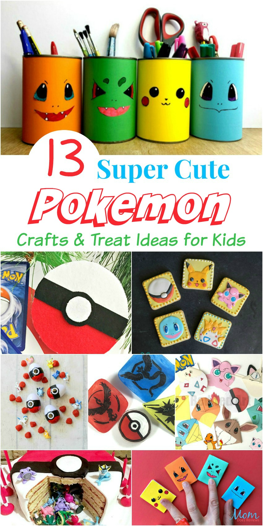 13 Super Cute Pokemon Crafts & Treat Ideas for Kids #funstuff #pokemon #crafts #pikachu