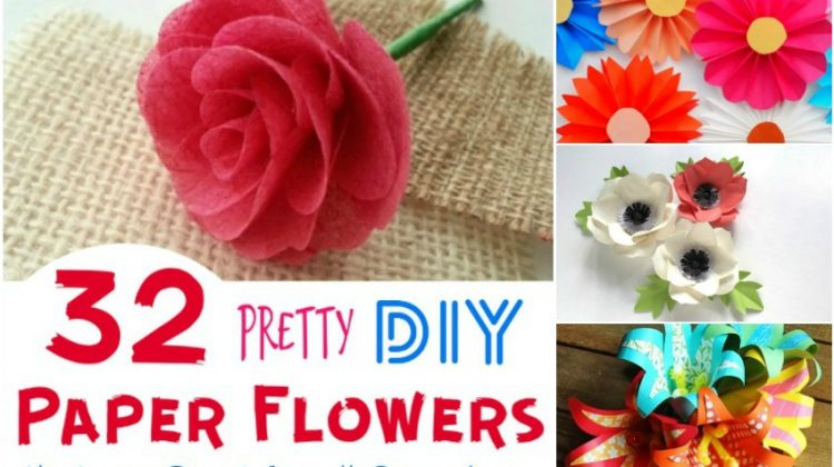 32 Pretty DIY Paper Flowers that are Great for all Occasions