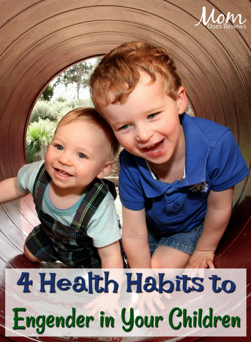 4 Health Habits to Engender in Your Children #parenting #health #parentingtips