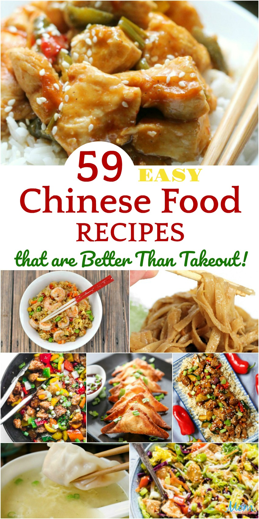 59 Easy Chinese Food Recipes that are Better Than Takeout! #recipes #chinesefood #food #foodie #getinmybelly