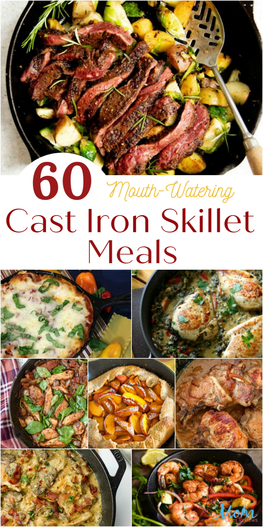 60 Mouth-Watering Cast Iron Skillet Meals You Need to Make for Your Family #recipes #skilletrecipes #food #foodie #getinmybelly