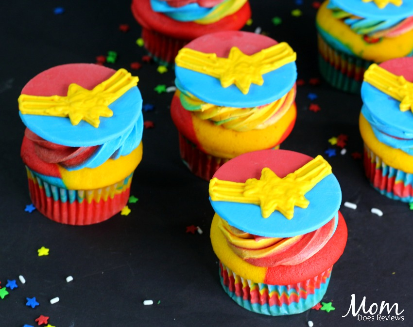 Captain Marvel Cupcakes!