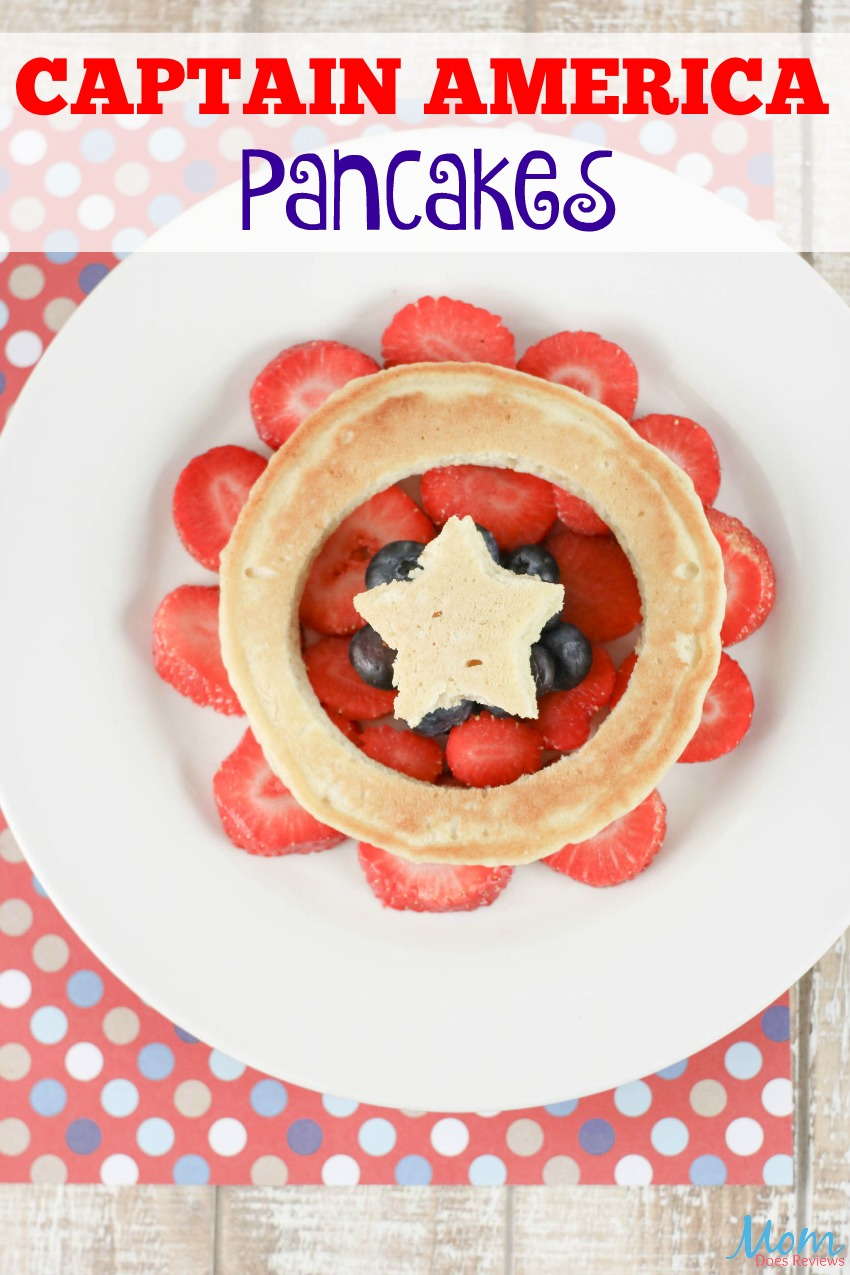 Captain America Pancakes #breakfast #food #foodie #pancakes #captainamerica #marvel #funfood