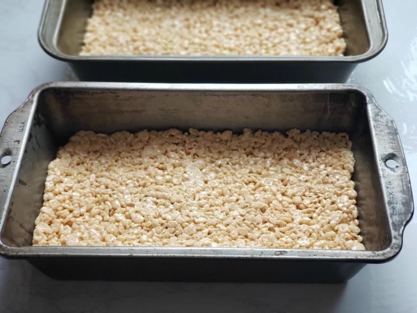 Carrot Garden Rice Krispie Treats Process