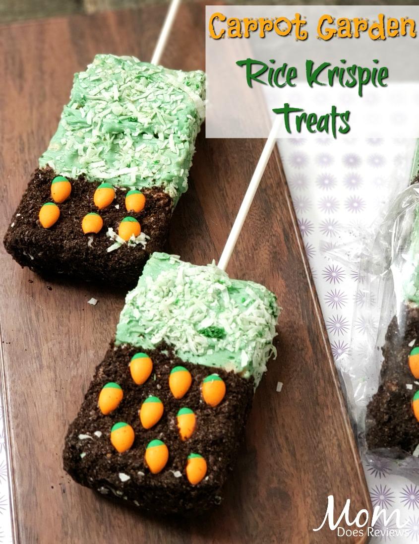 Carrot Garden Rice Krispie Treats #desserts #easter #funfoods