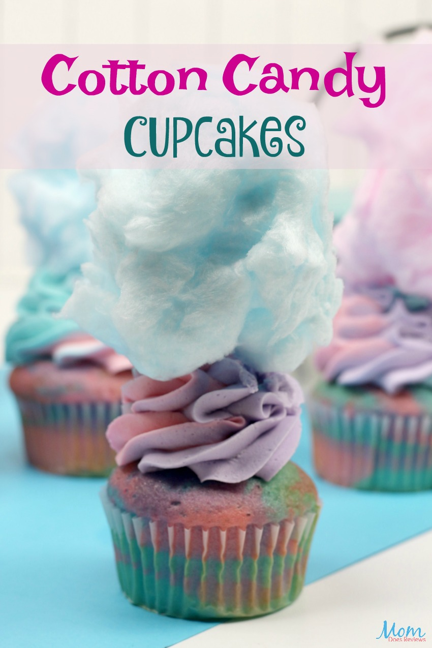 Cotton Candy Cupcakes Recipe & Tutorial #cupcakes #outrageouscupcakes #food #foodie #sweets #funfood #cottoncandy