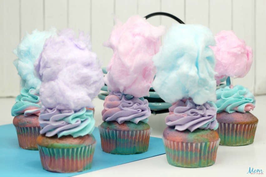 Extreme Cotton Candy Cupcakes