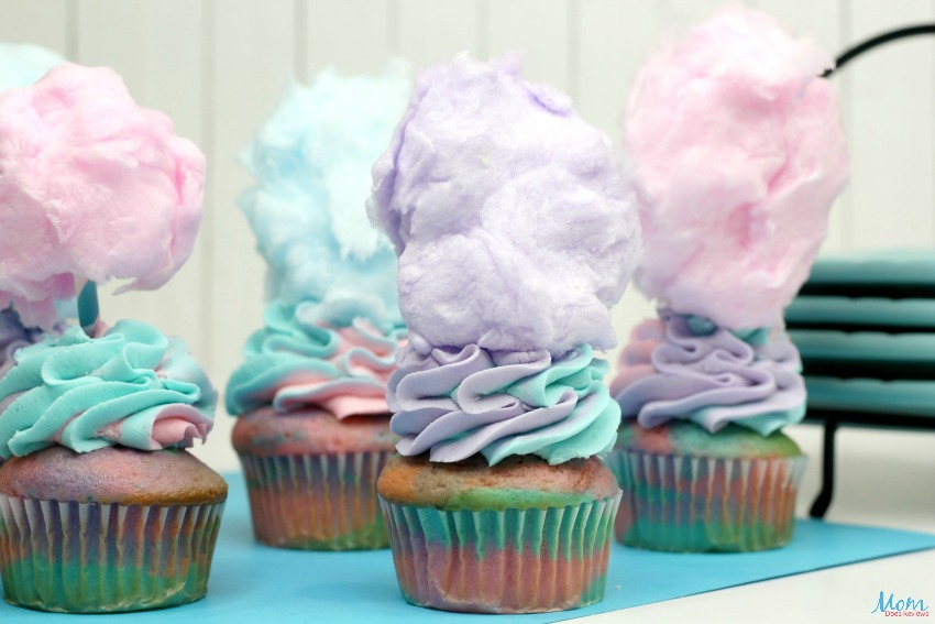 Cotton Candy Cupcakes Recipe & Tutorial