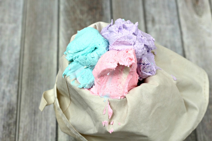 Cotton Candy Cupcakes process