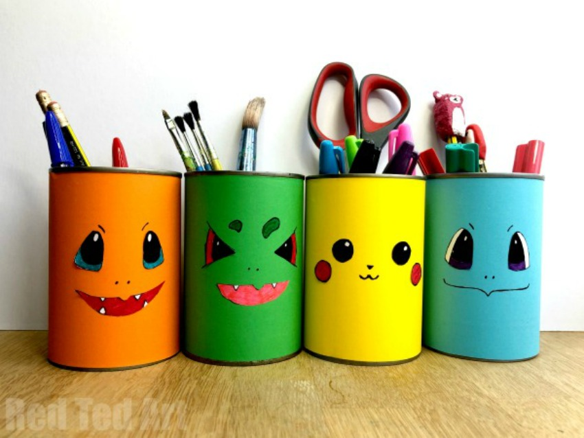 DIY Pokemon Pencil Holder