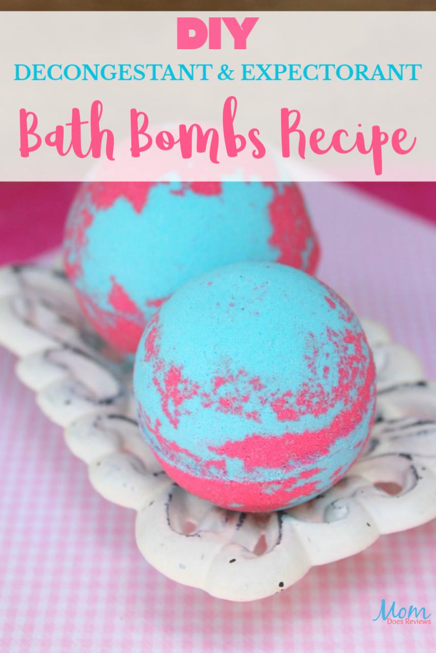 DIY Decongestant and Expectorant Bath Bombs Recipe #diy #craft #health #bathbombs #decongestant #greenliving